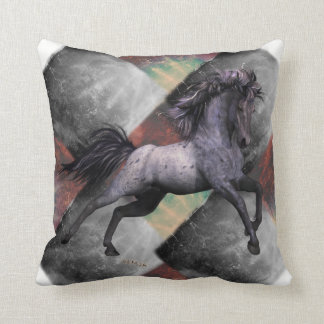"""Blue Roan Horse Throw Pillow 16""""x16"""", see options"""
