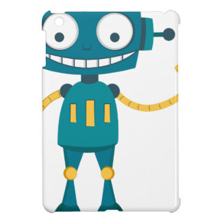 Blue Robot iPad Mini Cover