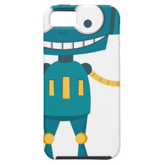 Blue Robot iPhone 5 Cover