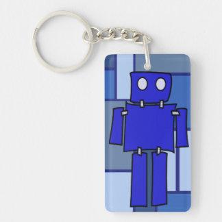 Blue Robot Keychain