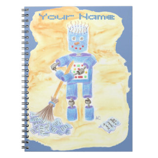 Blue Robot Notebook