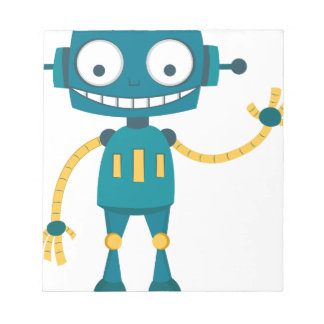 Blue Robot Notepad