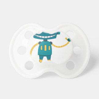 Blue Robot Pacifier