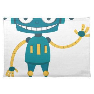 Blue Robot Placemat