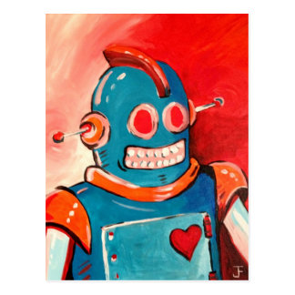 Blue Robot Post Cards