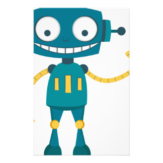 Blue Robot Stationery