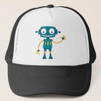 Blue Robot Trucker Hat