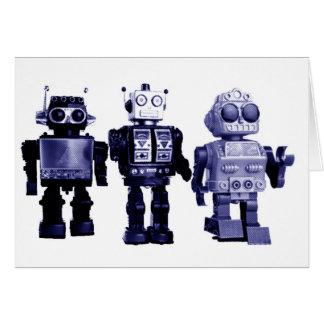 blue robots card