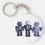 blue robots keychain
