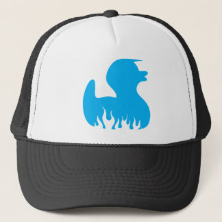 Blue Rockabilly Duck Trucker Hat