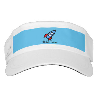 Blue rocket flying. visor