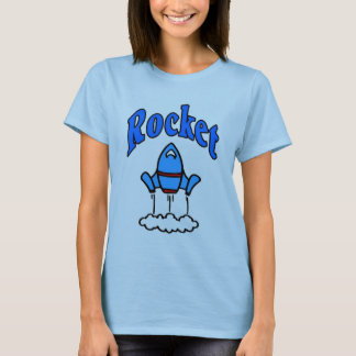 Blue Rocket logo Shirt