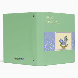 Blue Rocking Horse Baby Book 3 Ring Binder