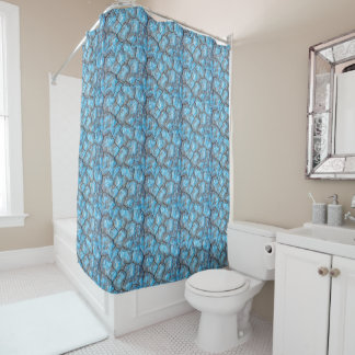 Blue Rocks Shower Curtain