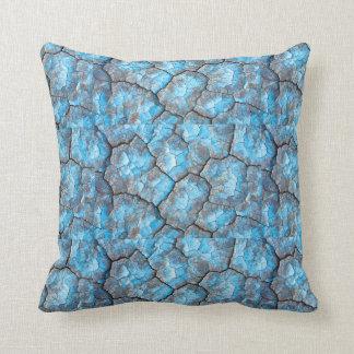 Blue Rocks Throw Pillow