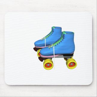 Blue Roller Skates Mouse Pad