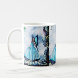 Blue Romantic Butterfly Fairy Coffee Mug