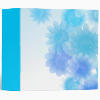 Blue romantic vintage flowers binder