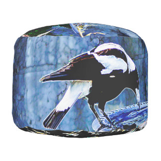 Blue room Magpie Pouf