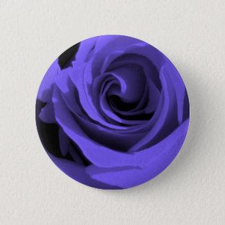 Blue Rose 2 Inch Round Button