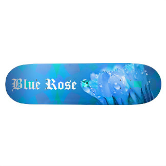 Blue Rose background Customizable text Custom Skateboard