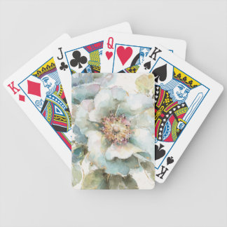 Blue Rose Bicycle Playing Cards