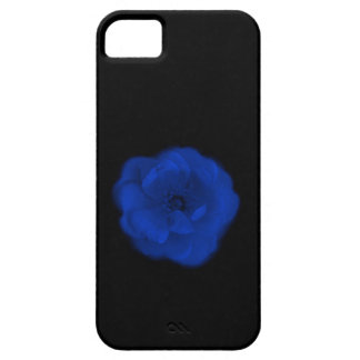 Blue Rose, Black Background. iPhone 5 Case