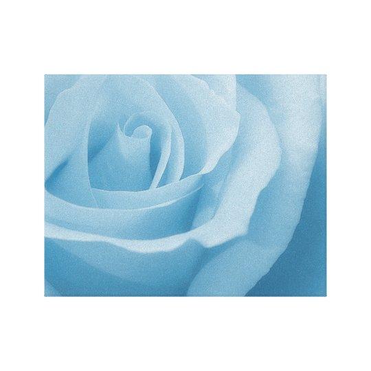 Blue Rose Blossom Canvas Print