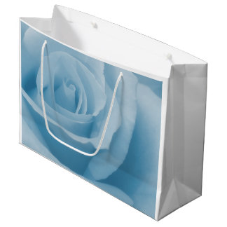 Blue Rose Blossom Large Gift Bag
