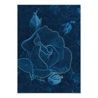 blue rose contour card