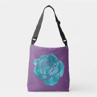 Blue Rose Crossbody Bag