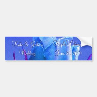 Blue Rose Delight Bumper Sticker