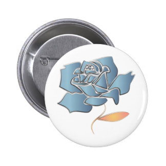 Blue Rose -editable background 2 Inch Round Button