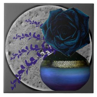 Blue Rose Floral Motif Tile