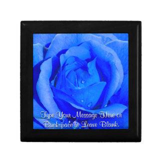 Blue Rose Gift Box Personalize Rose Jewelry Box
