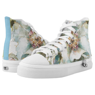 Blue Rose High Tops