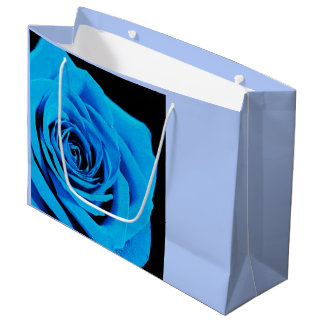 Blue rose large gift bag