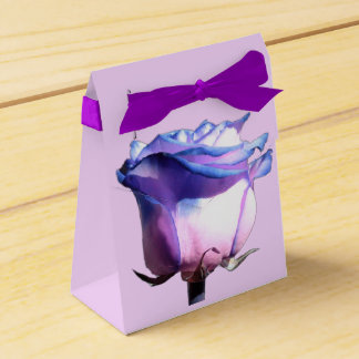 Blue Rose Lavender Gift Favor Box