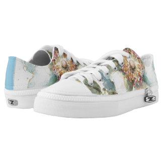Blue Rose Low-Top Sneakers