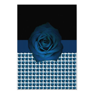 Blue Rose Motif on a Card