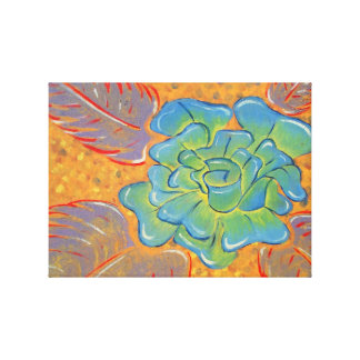 Blue Rose Oil Painting Canvas Print