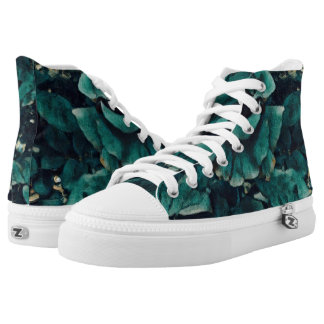 Blue Rose - Painting Style - Art Gift High Tops
