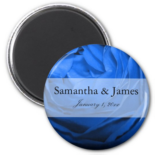 Blue Rose Personal Wedding Magnet