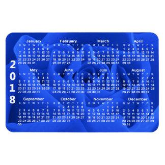 Blue Rose Petals 2018 Calendar Magnet