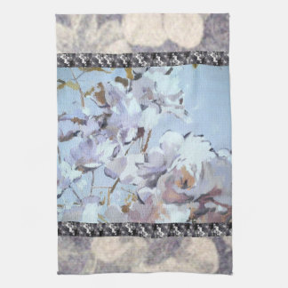 Blue Rose Petals Orchid Stripe Towels