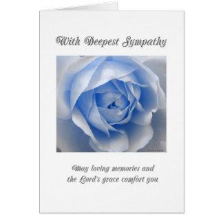 Blue Rose Religious Sympathy Card