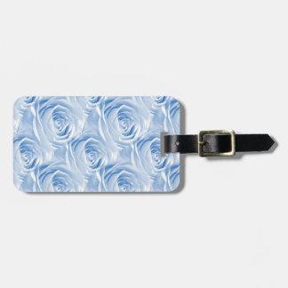Blue Rose Wallpaper Pattern Luggage Tag