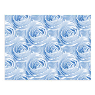 Blue Rose Wallpaper Pattern Postcard
