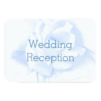 Blue Rose Wedding Reception Card