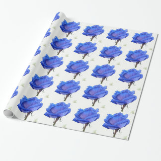 blue-rose wrapping paper